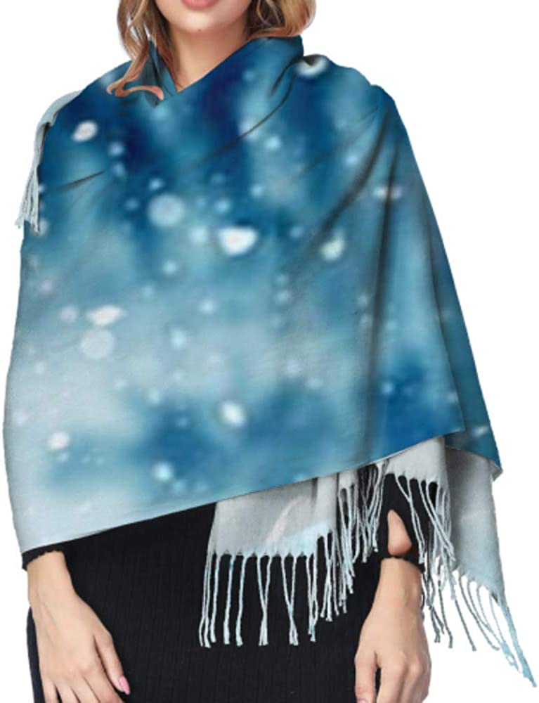 Classic Cashmere Feel Unisex Winter Scarf Merry Christmas Happy New Year Greeting Long Large Warm Scarves Wrap Shawl Stole
