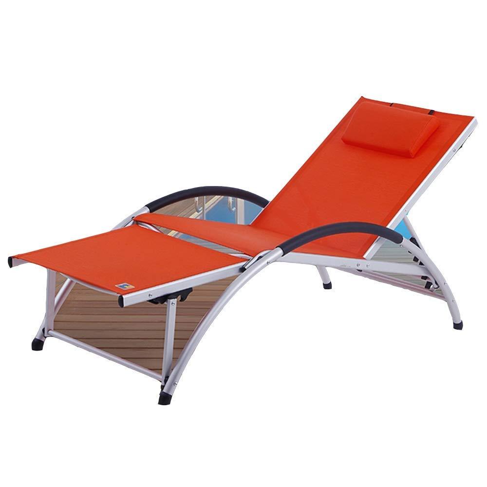 ACZZ Silla de gravedad cero, Plegable reclinable, Silla plegable ...