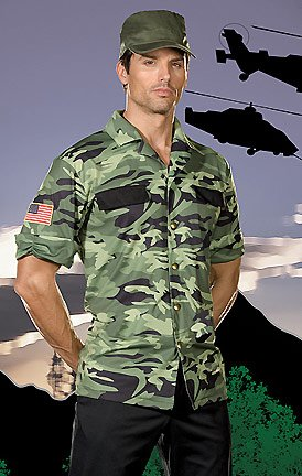 [Sergeant Lou Tenet Adult Costume - Large (42-44)] (Lieutenant Costumes)