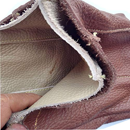 Anti-pet Catching Long and Thick Leather Work Protective Gloves,Brown by Cut-proof protective gloves (Image #3)