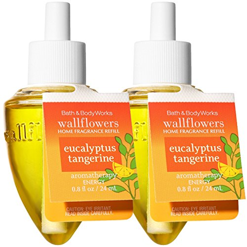 (Bath and Body Works Wallflowers Home Fragrance Refill 2-Pack Aromatherapy (Eucalyptus Tangerine, Stress Relief))