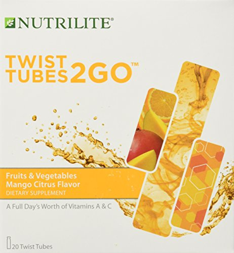Twist Mango - Nutrilite Fruits & Vegetables 2go Twist Tubes 20 Tubes