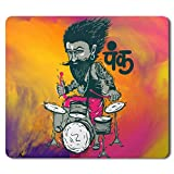 Motivate Box Punk Baba drumroll Design, Cool and Quirky Mousepad for Office and Home (203mm x 182mm x 3mm)