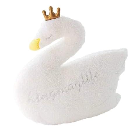 Amazon.com: Almohada de peluche de cisne de 11.813.4 ...