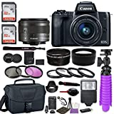 Canon EOS M50 Mirrorless Digital Camera (Black) Premium Accessory...