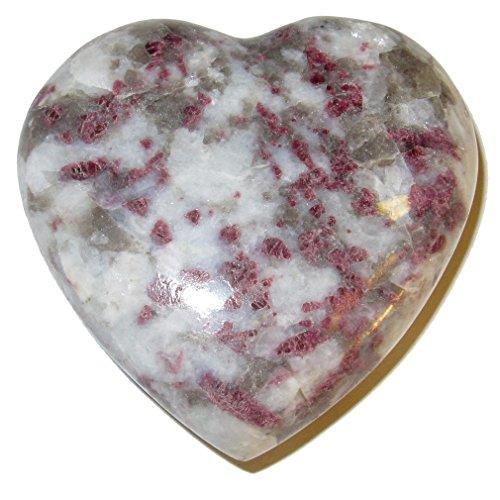 Tourmaline Heart Rubellite 50 Pink White Love Crystal Feminine Yin Energy Balance Stone 2.4