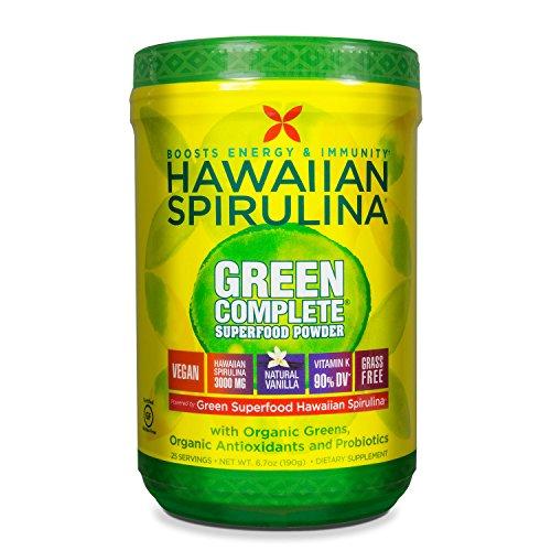 Pure Hawaiian Spirulina Green Complete Superfood Powder- Vegan, Non GMO - Natural Superfood Grown in Hawaii (Best Food In Hawaii)