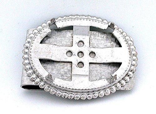 (40x30 40mm x 30mm Cabochon Cab Gemstone Silver Color Money Clip Mounting CF555)
