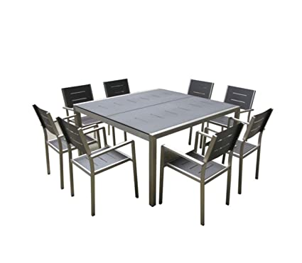 Amazon.com: Mango Home 9-Piece aluminio Resina Patio al aire ...
