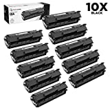 LD Compatible Replacements for HP Q2612A / 12A Set of 10 Black Laser Toner Cartridges for HP LaserJet Printer Series
