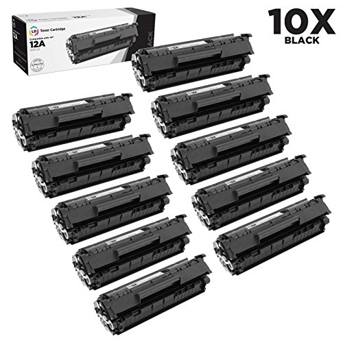 Compatible Replacements for HP Q2612A / 12A Set of 10 Black