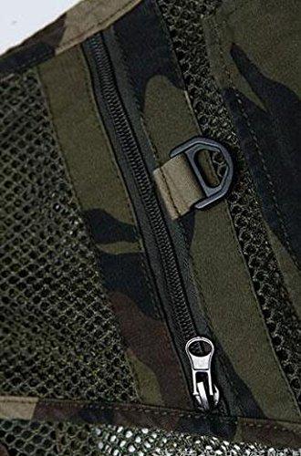 Gran bolsillo Chaleco Verano GLF Camuflaje Anti De Multi Bolsillo Malla 2 respirable De Tamaño Hombres Multi zYzxrq0