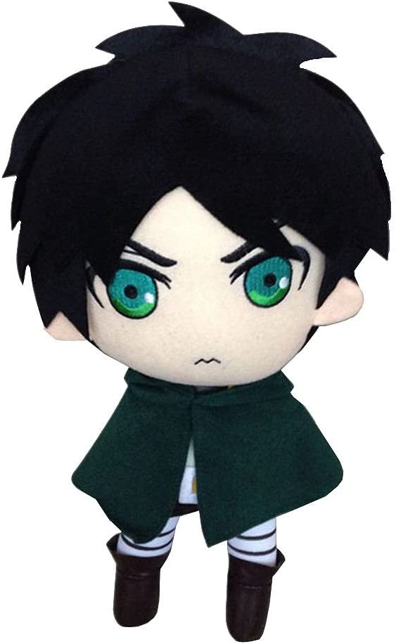 """Attack on Titan Eren Yeager 9/"""" Plush Toy UK Seller New With Labels"""