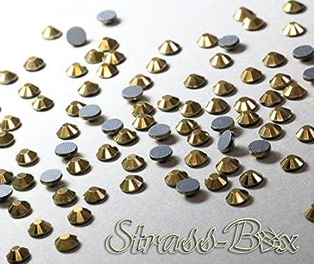 50 SS20 pieza n/úmero a elegir Oro Cristal Piedras Strass Hotfix DMC Crystal dorado oro