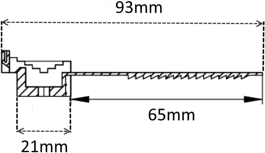 AERZETIX 100 Abrazaderas de sujeci/ón negro 65mm bridas para atornillar sujetacables para montaje de pared 41905