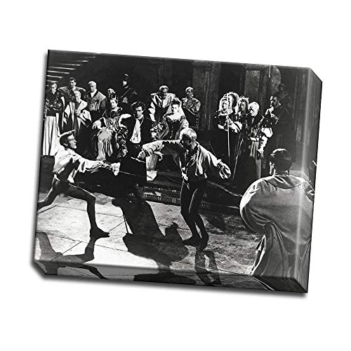 wallsthatspeak Film Still Featuring Laurence Olivier Sword Fighting in Hamlet Printed on 20x16 Canvas Wall Art by Movie Star -