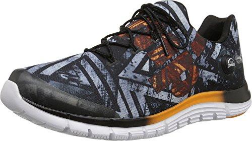 Reebok Men's Zpump Fusion Geo Black/Orange/White Running Shoes 10.5 ()