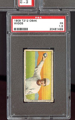 1909 T212 Obak Cigarettes Tobacco Wiggs PSA 1.5 Graded Baseball Card (Cigarette Baseball Cards)