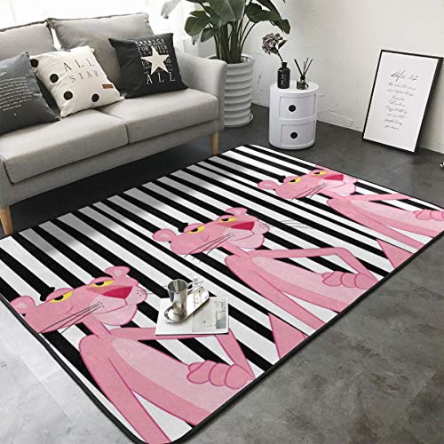 Xzcxyadd Super Soft Indoor & Outdoor Modern Pink Panther Area Rugs,Suitable for Children Bedroom Home Decor Nursery Rugs- 80 X 58 in