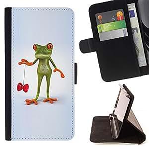 For Apple Apple iPhone 4 / iPhone 4S Case , Niños Niños Juego Juguete Habilidad- la tarjeta de Crédito Slots PU Funda de cuero Monedero caso cubierta de piel