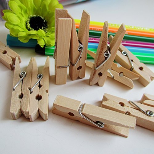 Generic Sturdy Natural Wood Clothespins