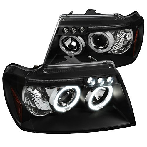 Spec-D Tuning 2LHP-GKEE99JM-TM Black Projector Headlight (Halo Led)