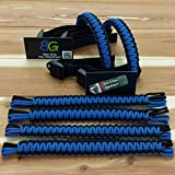 Reversible Paracord Jeep Wrangler Grab Handles - Black & Royal Blue - Pick your pairs