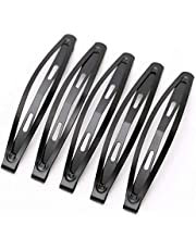 LASSUM 24 Pcs Large Metal Hair Snap Clips 3.15 inch Long No-slip Hair Clips Barrettes for Women and Girls (Black)