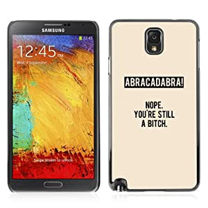 YOYOSHOP [Funny Abracadabra Message LOL WTF] Custodia Case Cover per Samsung Galaxy Note 3