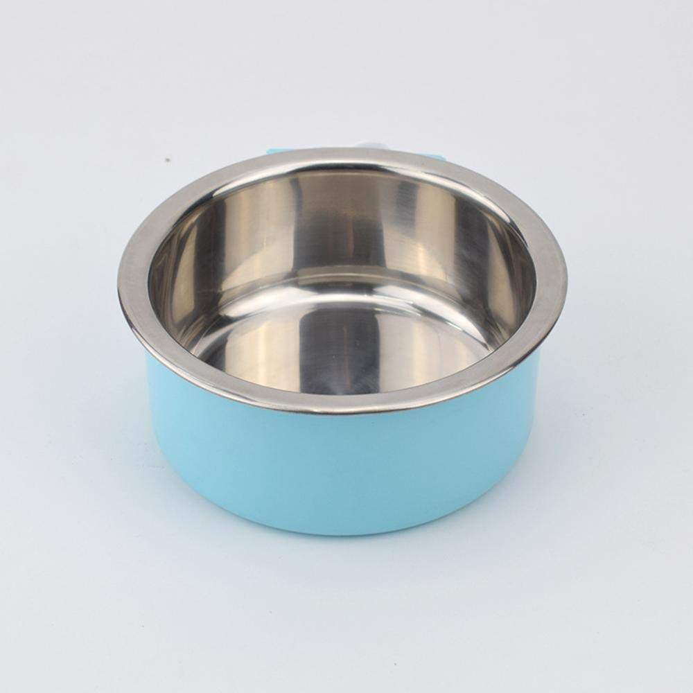 Daeou Ciotola del cane,Vasca singola in acciaio inox estraibile fisso isolamento anti-ribaltamento gabbia alimento per animali domestici