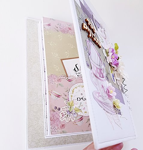 Jewish judaica recipe book binder israel gift hebrew for Made in Israel art scrapbook birthday craft handmade mom gifts her fabric cotton scrap passover gift paper shabby chic flowers romantic by Taltul Designs