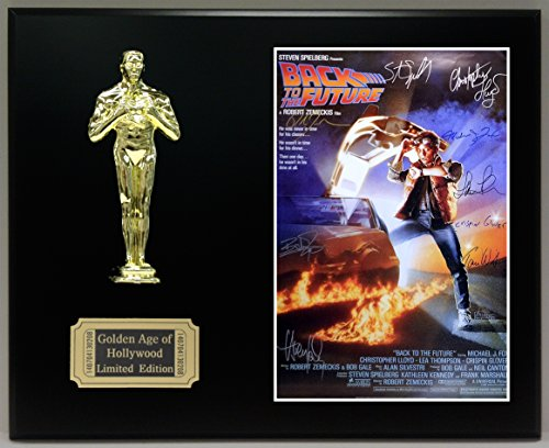 Back Movie Photo (Back To The Future Cast Signed Reproduction Autographed 8 x 10 Photo LTD Edition Oscar Movie Display)