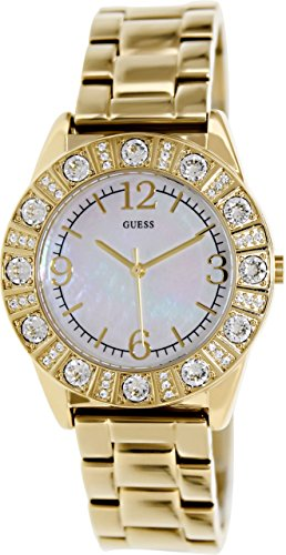 Guess Mother Of Pearl Gold Tone Ladies Watch - G95483L