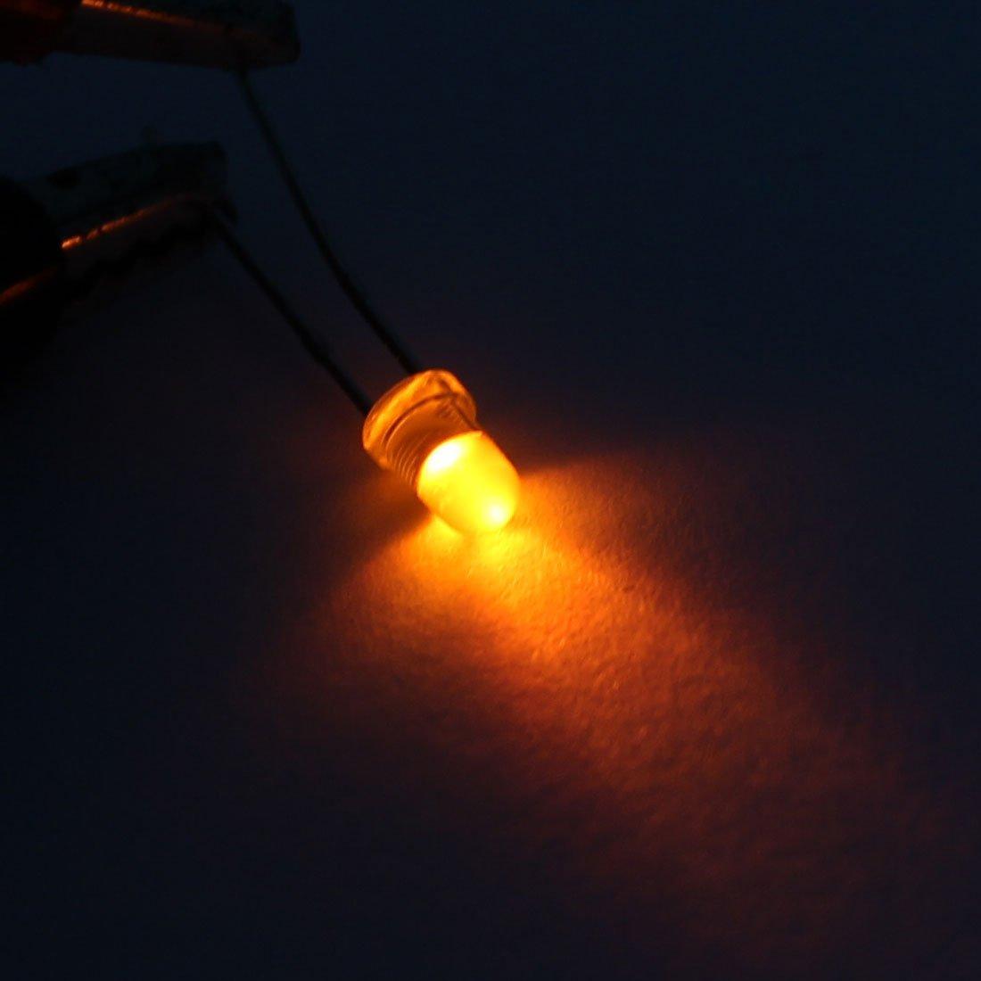 eDealMax 1000Pcs 2Terminal Jaune Light-Emitting Diode 3 mm Jaune Ampoule Pour Lampe LED