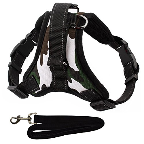 Reflective Mesh Sport Harness - Dog Body Harness,Freehawk Reflective Security Soft Mesh Padded No-Pull Dog Harness with Handle,Calming Adjustable Sport Dog Training Walking Hiking Leash Outdoor Adventure Pet Vest Soft Harness (XL)