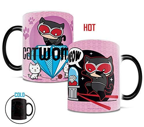 Morphing Mugs DC Comics Justice League (Chibi Catwoman) Heat Reveal Ceramic Coffee Mug - 11 Ounces -