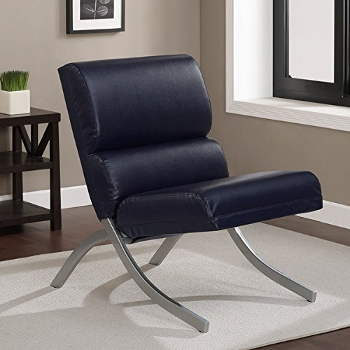 Contemporary/Modern Unique Faux,Bonded Leather Foam Chair (Navy)