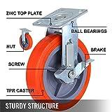 OrangeA Scaffolding Casters 8 X 2 Inch Heavy Duty