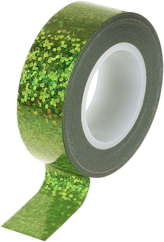 Green ZZALLL Rhythmic nastics Decoration Holographic Glitter Tape Ring Stick Accessory