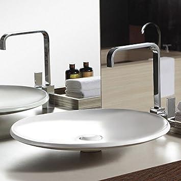grande vasque poser plate 50x50 cm cramique loops - Grande Vasque A Poser