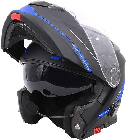 Leopard Leo 727 Bluetooth Motorcycle Helmet Anti Fog Visor Flip Up Helmet Full Face Helmet Hands Free Headset Noise Free Automatic Response S 55 56cm Auto