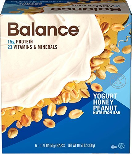 Balance Bar Yogurt Honey Peanut, 6 count Value Pack by BALANCE (Protein Bar Honey Peanut Yogurt)