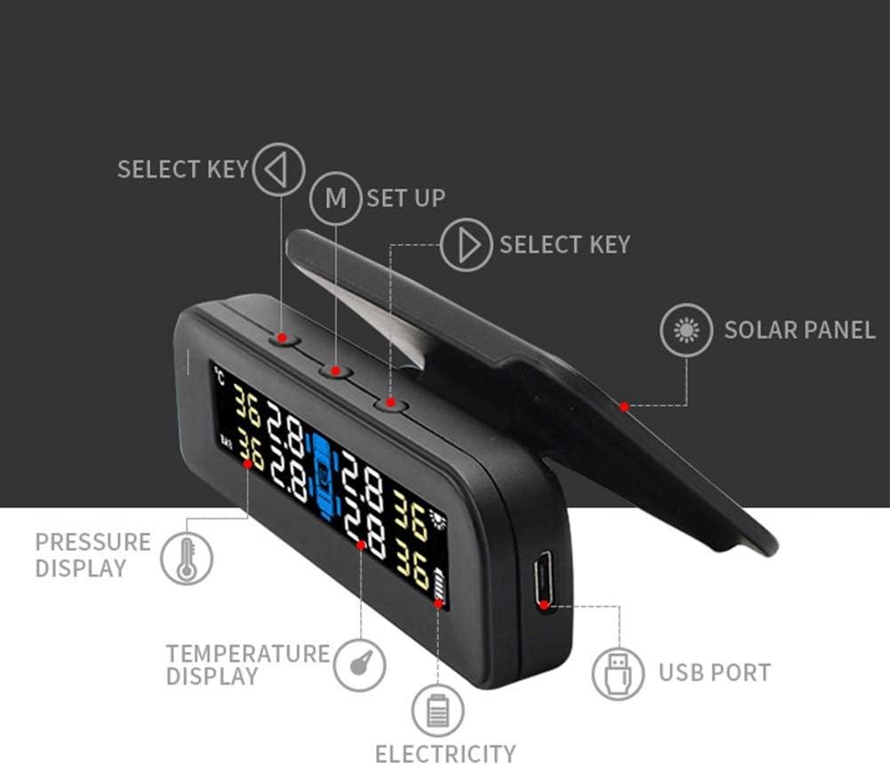 Qii lu C260 Auto Reifendruckkontrollsystem Solar Universal Echtzeit Tester LCD Bildschirm 4 Sensoren