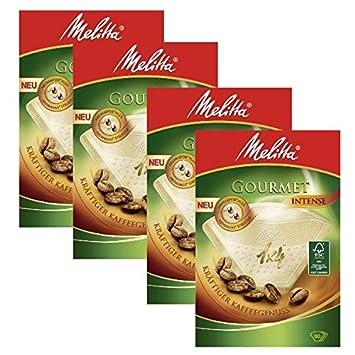 4 cajas de Melitta tamaño 1 x 4 Gourmet intenso café filtros, unidades 80: Amazon.es: Hogar