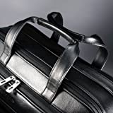Samsonite Leather Expandable Briefcase, Black, One