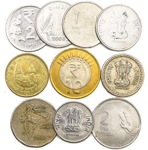 10 عملات قديمة من الهند جمع القطع النقدية من جنوب آسيا زوج الروبية الهندية اختيار مثالي لبنك العملات الخاص بك وحاملي العملات المعدنية وألبوم العملات المعدنية Buy Online At Best Price In