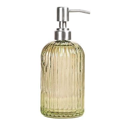 IDABAY Botella Dispensador de Vidrio para jabón Liquido/Champú/Loción/Crema Corporal/