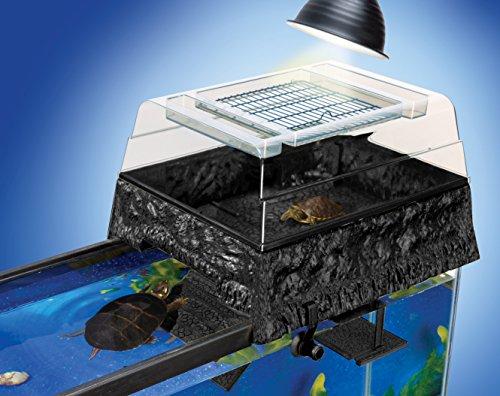 Penn Plax Turtle Tank Topper  Above-Tank Basking Platform for Turtle Aquariums, 17 x 14 x 10 Inches