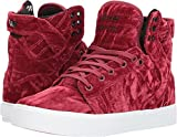 Supra Women's Skytop Dark Ruby/White/White 9 B US