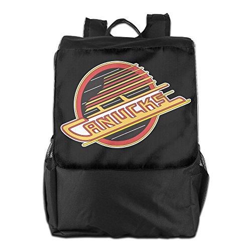 Show Time Vancouver Logo Canucks Multipurpose Backpack Travel Bag Shoulder Bags